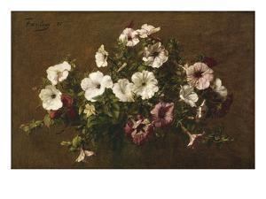 Petunias, 1881 by Henri Fantin-Latour