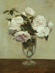 Pink Roses, 1875 by Henri Fantin-Latour