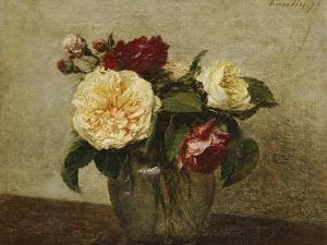 Red and Yellow Roses, 1879 by Henri Fantin-Latour