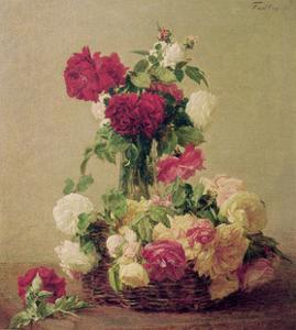 Roses, 1891 by Henri Fantin-Latour