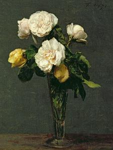 Roses in a Champagne Flute, 1873 by Henri Fantin-Latour