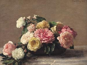 Roses in a Dish, 1882 by Henri Fantin-Latour