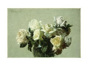 Roses by Henri Fantin-Latour