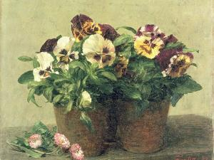 Still Life of Pansies and Daisies, 1889 by Henri Fantin-Latour
