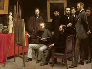 Studio at Batignolles, 1870 by Henri Fantin-Latour