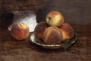 The Bowl of Peaches; Le Bol De Peches, 1869 by Henri Fantin-Latour