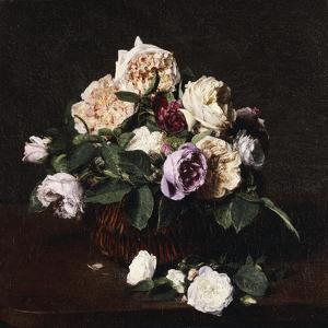 Vase de Fleurs, 1876 by Henri Fantin-Latour