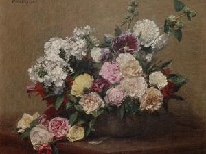 Vase with Roses by Henri Fantin-Latour