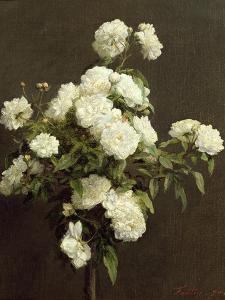 White Roses, 1870 by Henri Fantin-Latour
