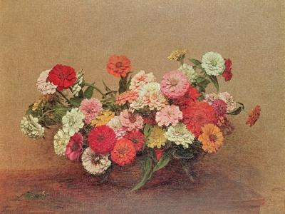 Zinnias in a Glass Bowl, 1886