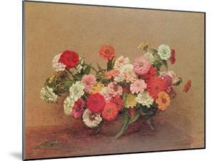 Zinnias in a Glass Bowl, 1886 by Henri Fantin-Latour