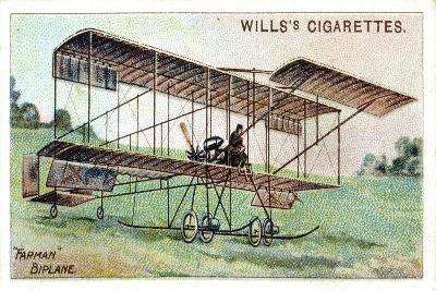 Henri Farman in the Farman Biplane, French Aviator and Aircraft Constructor, C1909--Giclee Print