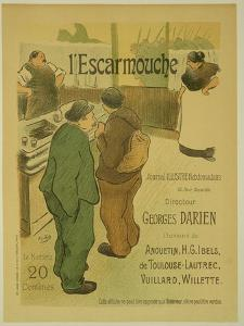Reproduction of a Poster Advertising 'L'Escarmouche', a Weekly Illustrated Journal, 1893 by Henri Gabriel Ibels