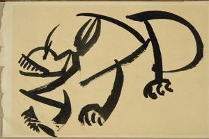 Cat About to Pounce, 1913 by Henri Gaudier-brzeska