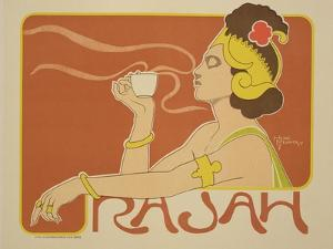 """Reproduction of a Poster Advertising the """"Cafe Rajah,"""" 1897 by Henri Georges Jean Isidore Meunier"""