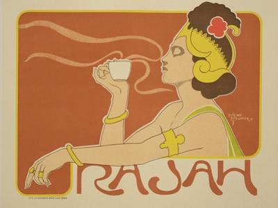"Reproduction of a Poster Advertising the ""Cafe Rajah,"" 1897 by Henri Georges Jean Isidore Meunier"