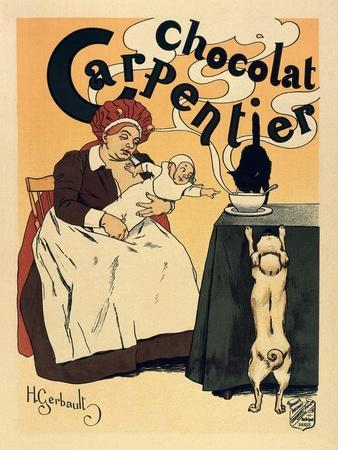 Advertisement of the Chocolate Brand 'Carpentier' (1895)