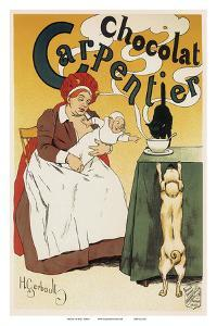 Chocolat Carpentier, Art Nouveau, La Belle Époque by Henri Gerbault