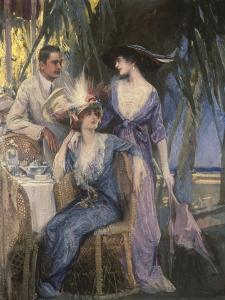 Palm Court by Henri Gerbault