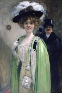 A Couple Arriving at an Event, C1872-1929 by Henri Gervex