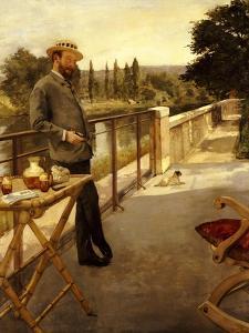 An Elegant Man on a Terrace, 1885 by Henri Gervex