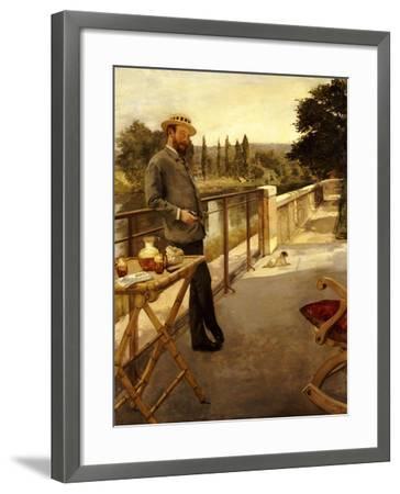 An Elegant Man on a Terrace, 1885