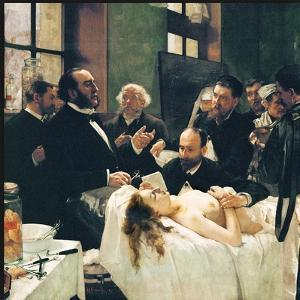 Before Operation, Dr. Péan Teaching His Discovery, Compression Of Blood Vessels, St Louis Hospital by Henri Gervex
