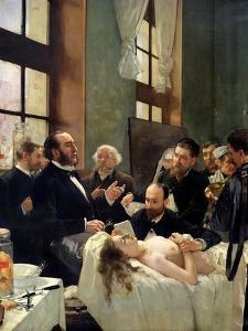 Before the Operation, or Doctor Pean Teaching at Saint-Louis Hospital, 1887 by Henri Gervex