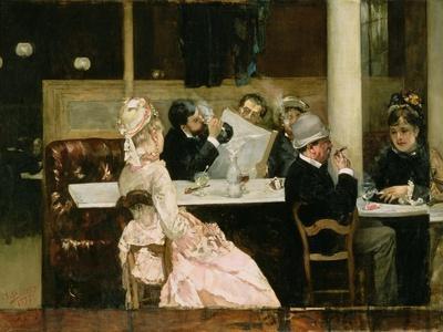 Cafe Scene in Paris, 1877