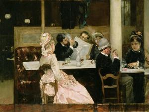 Cafe Scene in Paris, 1877 by Henri Gervex