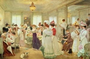 Cinq Heures Chez Le Couturier Paquin, 1906 by Henri Gervex