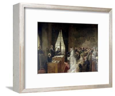 Civil Marriage of Son of Mathurin Moreau Mayor of Paris' 19th Arrondissement, 1884