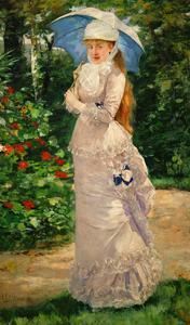 Mme. Valtesse de la Bigne. Oil on canvas (1889) 200 x 122 cm Inv. 20059. by HENRI GERVEX