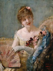 Portrait of a Woman with Fan, 1879 by Henri Gervex