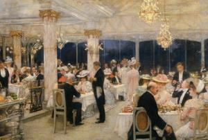 Soiree of the Grand Prix at Armenonville, 1905 by Henri Gervex