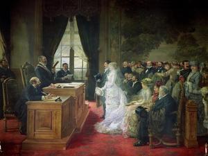The Civil Marriage, 1881 by Henri Gervex