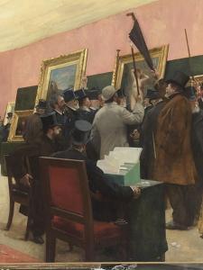 Une séance du jury de peinture au Salon des Artistes français (1883 ?) by Henri Gervex