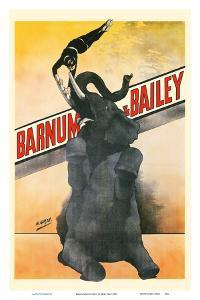 Barnum & Bailey Circus - Elephant and Trapeze Artist by Henri Gray