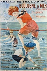 Poster Advertising the Seaside Resort of Boulogne Sur Mer, 1905 by Henri Gray