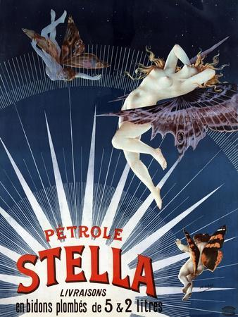 Vintage Petrole Stella Poster, 1897