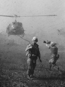 Vietnam War US Helicopter Landing by Henri Huet
