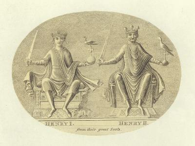 Henri I and Henry II, Kings of England--Giclee Print