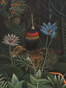 Detail of The Dream, 1910 by Henri J^F^ Rousseau