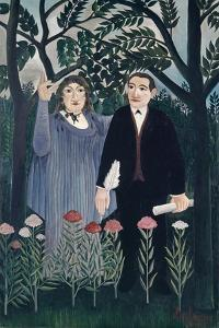 The Muse Inspiring the Poet, 1909 by Henri JF Rousseau