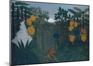 The Repast of the Lion by Henri JF Rousseau