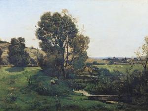 View from Moncel-Sur-Seine, circa 1868 by Henri-Joseph Harpignies