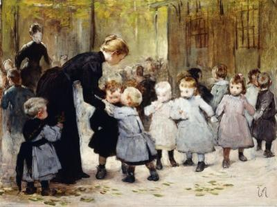 In the Playground by Henri Jules Jean Geoffroy