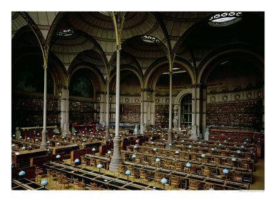 "Interior of the ""Salle des Imprimes"", 1868"