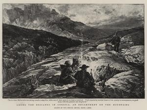 Among the Brigands in Corsica, an Encampment on the Mountains by Henri Lanos