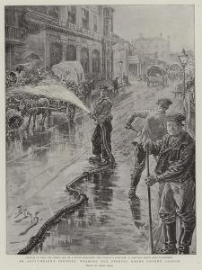 An Anti-Cholera Specific, Washing the Streets Round Covent Garden by Henri Lanos